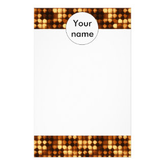 Brown shapes abstract design custom stationery