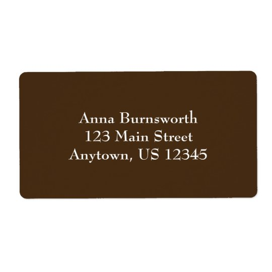 Brown Simple Plain Shipping Labels