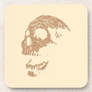 Brown Skull Design Drink Coasters