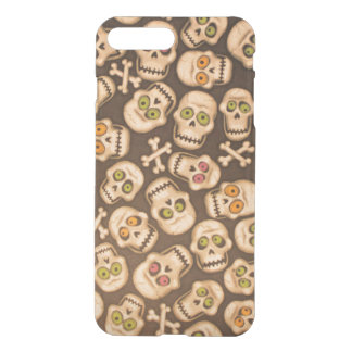 brown skull heads with cross bones iPhone 7 plus case