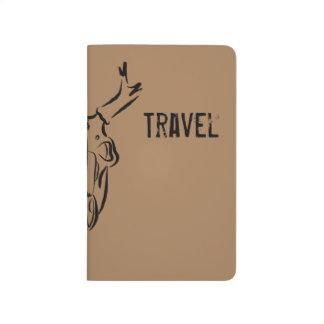 Brown Skull Travel Journal