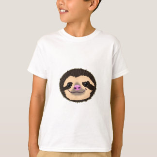 brown smiling sloth face T-Shirt