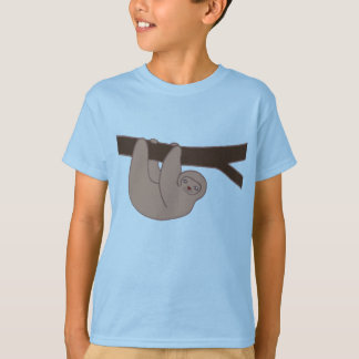 Brown Smiling Sloth with Heart Nose T-Shirt