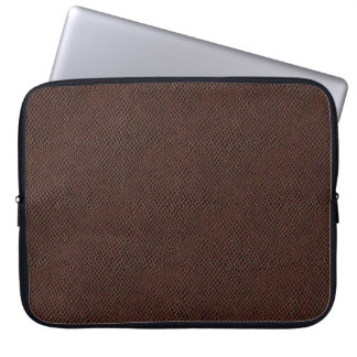 Brown Snake Skin Leather Computer Sleeve