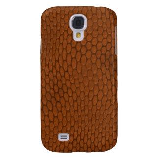 Brown Snake Skin Pattern Galaxy S4 Case