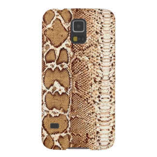 Brown Snake Skin Print Case For Galaxy S5