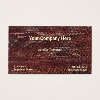 Brown Snakeskin Business Card