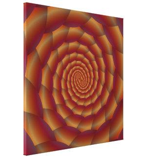 Brown Snakeskin Spiral  Canvas Print