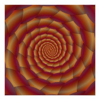 Brown Snakeskin Spiral Photo Art