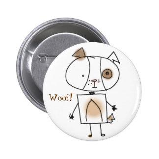 Brown Spottie Dog Button