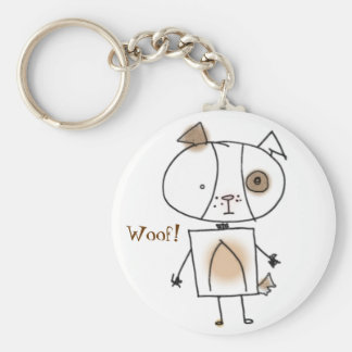 Brown Spottie Dog Keychain