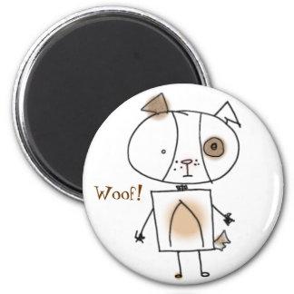 Brown Spottie Dog Magnet