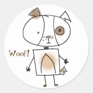 Brown Spottie Dog Stickers