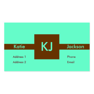 Brown Square Business Card Templates