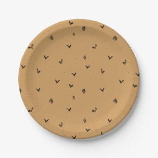 Brown squirrel pattern plate