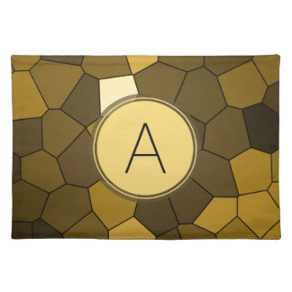 Brown Stained Glass Mosaic Place Mats