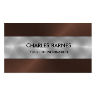 Brown Stainless Steel Business Card