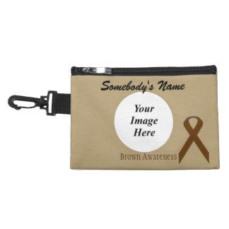 Brown Standard Ribbon Accessory Bag