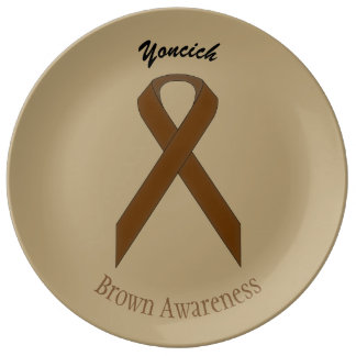 Brown Standard Ribbon by Kenneth Yoncich Plate