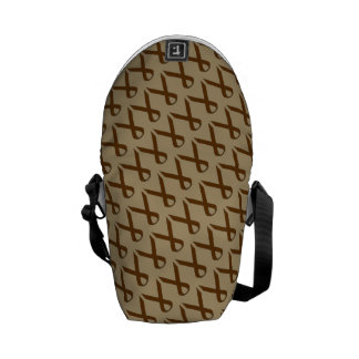 Brown Standard Ribbon Messenger Bags