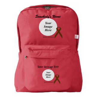 Brown Standard Ribbon Template Backpack