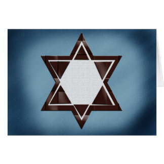 Brown Star of David Bar Mitzvah cards
