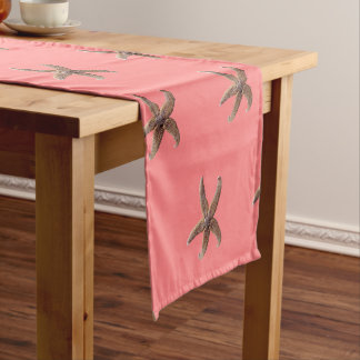 Brown Starfish Coral Pink Table Runner