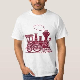 "Brown steam locomotive train ""six letters"" t-shirt"