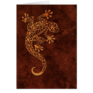 Brown Stone Climbing Gecko Card