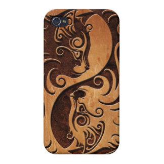 Brown Stone Yin Yang Kittens iPhone 4/4S Case