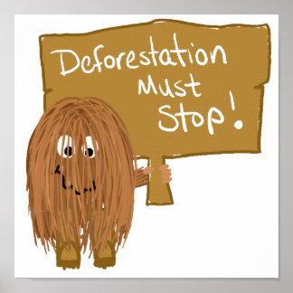 Brown stop deforestation poster