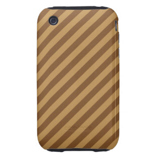 Brown Stripe Pattern. Tough iPhone 3 Cases