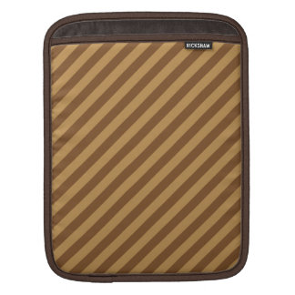 Brown Stripe Pattern. iPad Sleeve