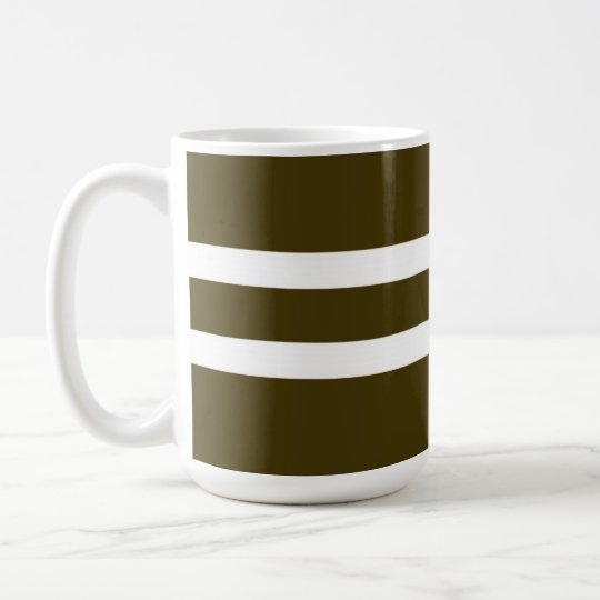 Brown Striped Mug