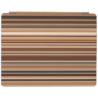 Brown Striped Pattern iPad Cover