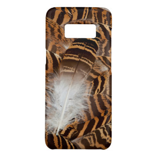 Brown Stripepd Feather Abstract Case-Mate Samsung Galaxy S8 Case