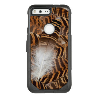 Brown Stripepd Feather Abstract OtterBox Commuter Google Pixel Case