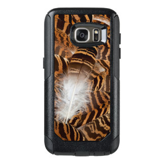 Brown Stripepd Feather Abstract OtterBox Samsung Galaxy S7 Case