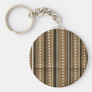 Brown Stripes and Dots Creased background Key Chains