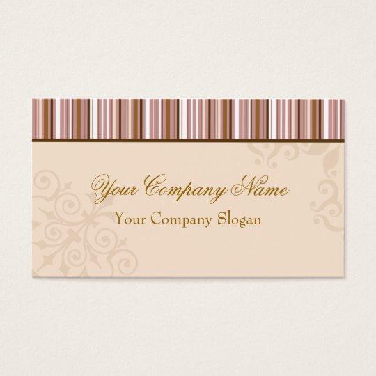 Brown Stripes Elegant Design Business Card