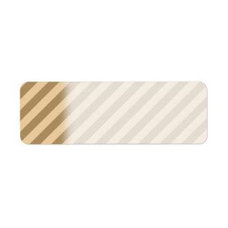 Brown Stripes. Return Address Label