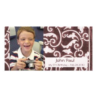 Brown Stylish Photo Card
