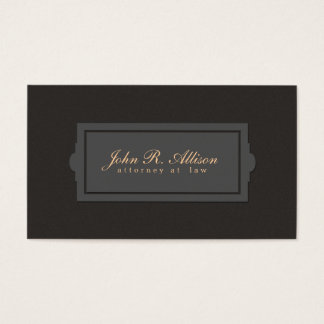 Brown Suede Look Attorney Plaque Style Business Card