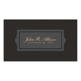 Brown Suede Look Attorney Plaque Style Pack Of Standard Business Cards