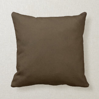Brown Suede Look Throw Pillow