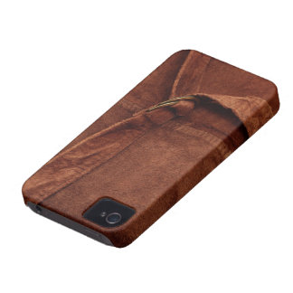 Brown Suede With Strap And Buckle Case-Mate iPhone 4 Case