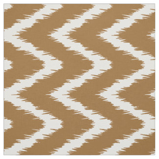 Brown Sugar Southern Cottage Chevrons Fabric
