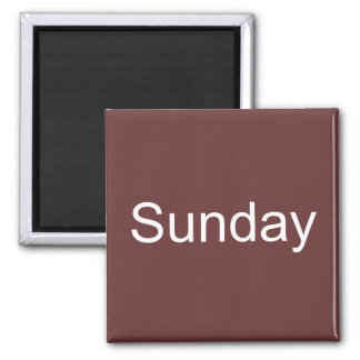 Brown Sunday Magnet