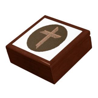 Brown Swirls Cross Gift Box