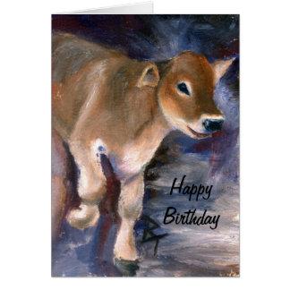 Brown Swiss Calf Birthday Card